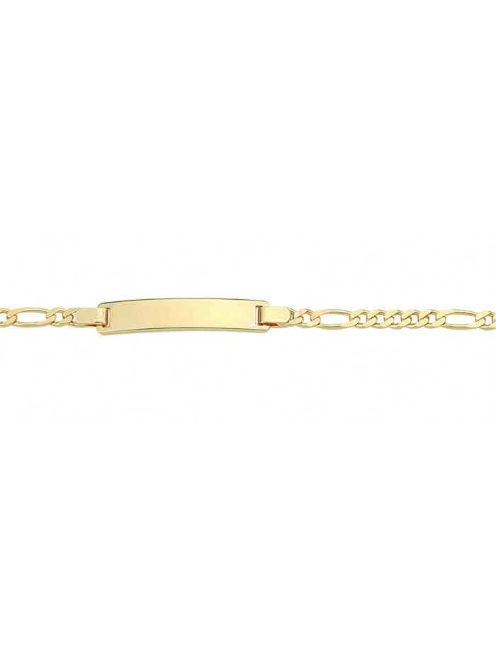 1001 Diamonds Damen Goldschmuck 333 Gold Figaro Armband 14 cm Ø 3 mm, gold