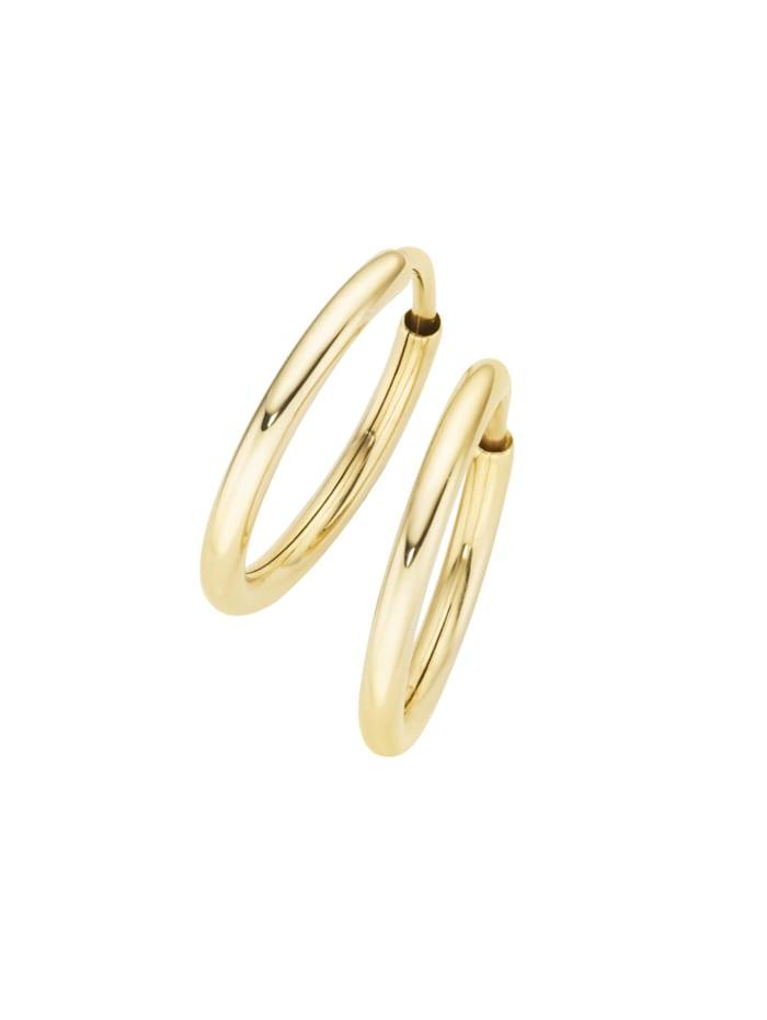 Luigi Merano Creolen hochglänzend, Gold 375, Gold