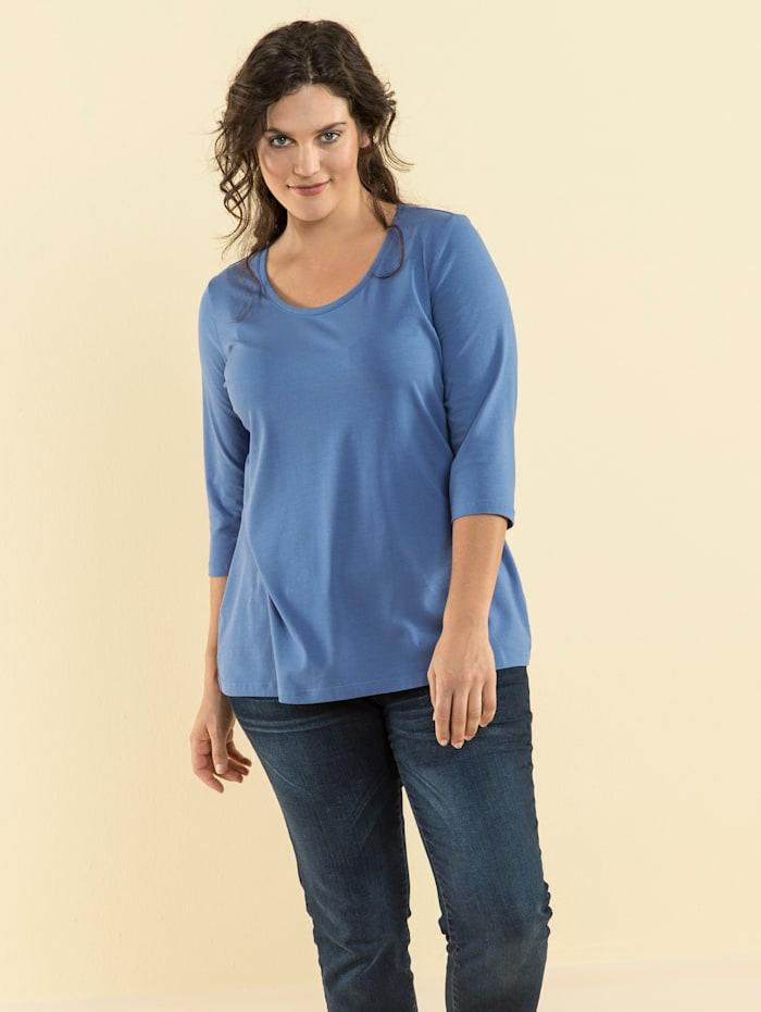 Janet & Joyce Basic Shirt, Hellblau