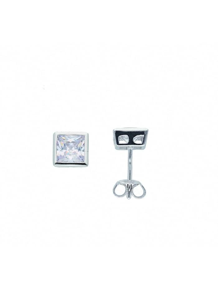 1001 Diamonds Damen Silberschmuck 925 Silber Ohrringe / Ohrstecker mit Zirkonia, silber