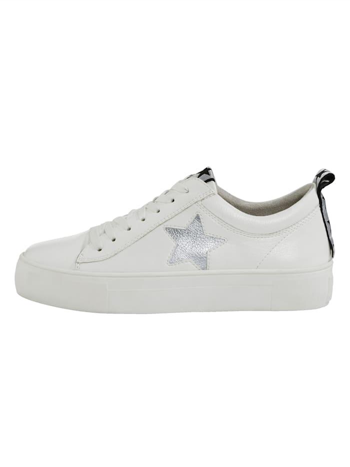 """Sneakers à plateau avec application """"étoile"""""""