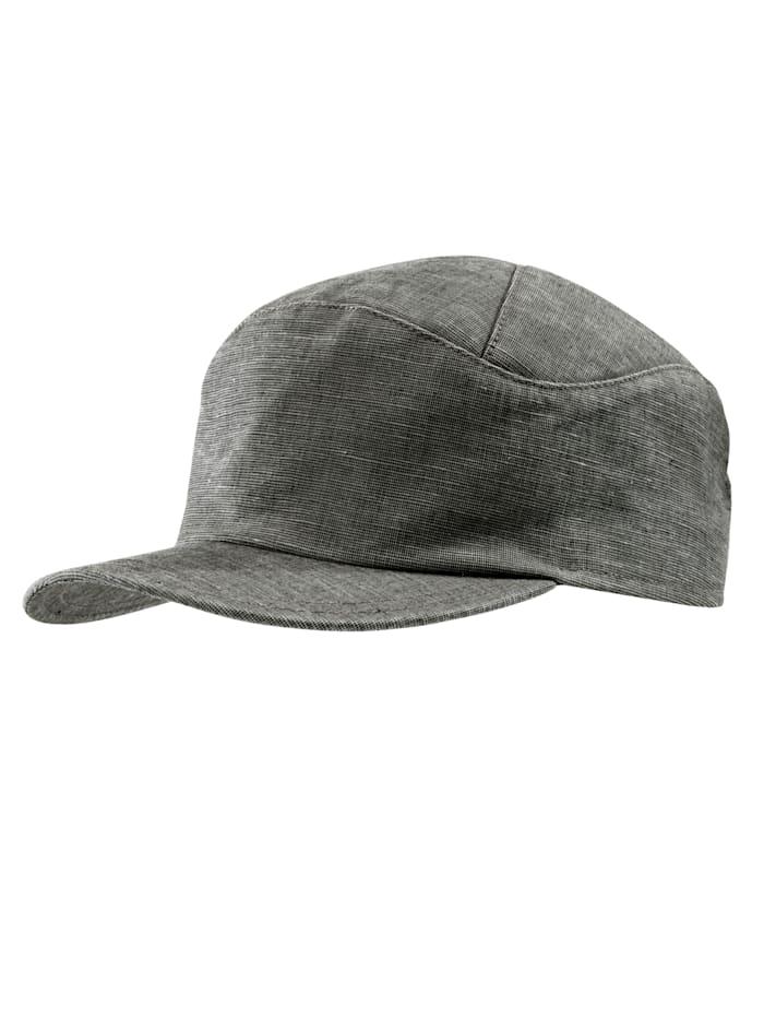"Mayser Basecap ""sportlich geschnitten"", grau-braun"