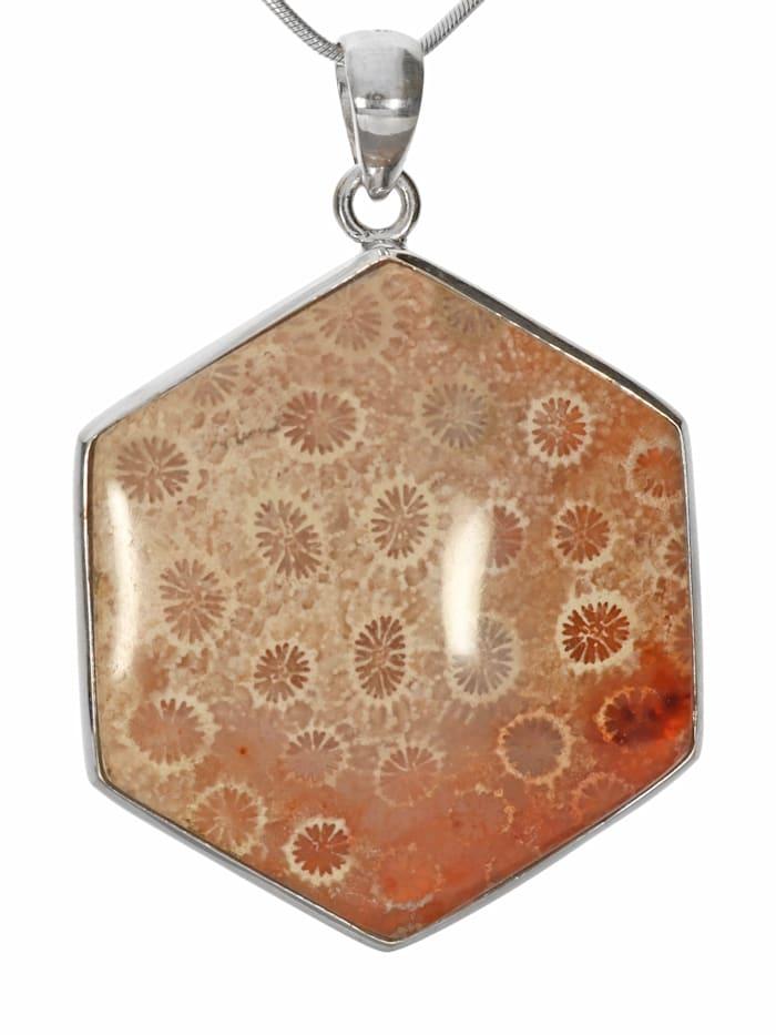 1001 Diamonds Damen Schmuck Edelstein Fossil Anhänger 925 Silber braun, braun