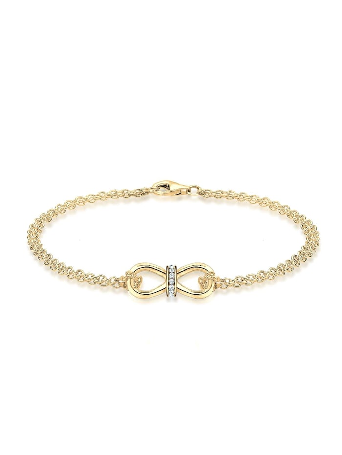 Elli Armband Infinity Endlos Kristalle 925 Silber, Weiß