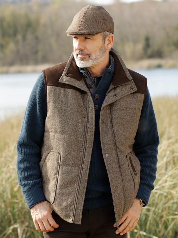 Casquette gavroche en laine mélangée