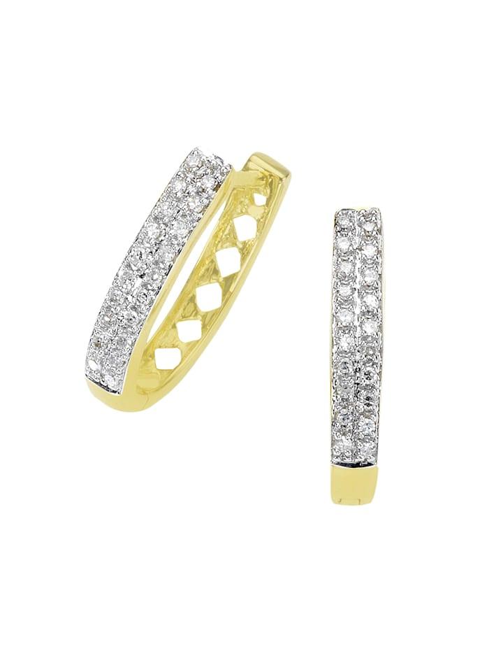 Diamonds by Ellen K. Creolen 585/- Gold Diamant weiß Diamant 1,8cm Glänzend 0,20 Karat 585/- Gold, gelb