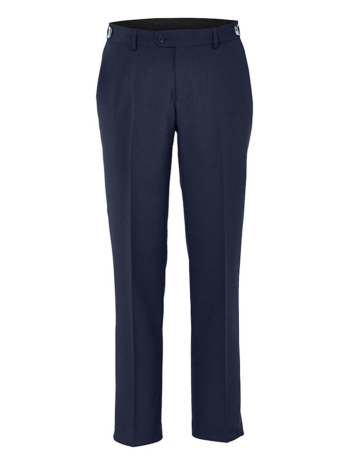 Men Plus Pantalon de costume coupe spéciale ventre, Bleu foncé