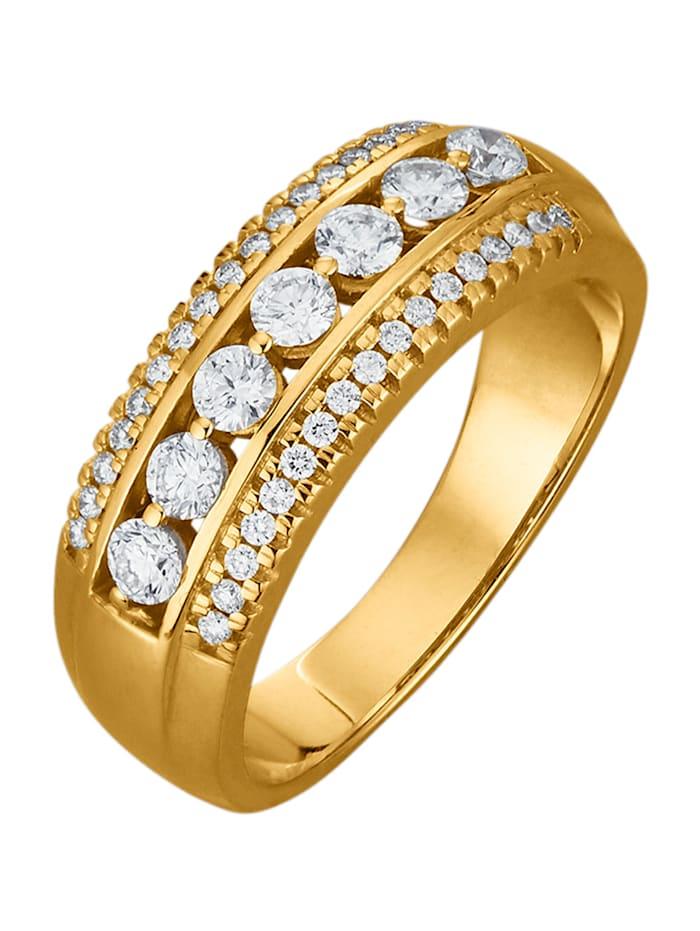 Diemer Diamant Damenring mit 41 Brillanten, Weiß