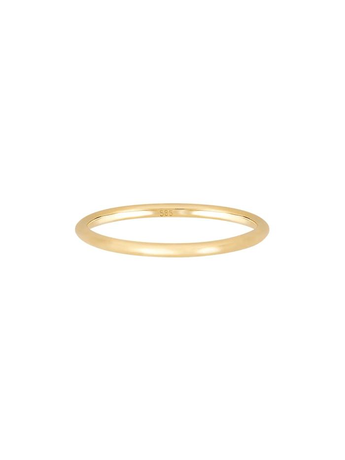 Ring Bandring Ehering Trauring Hochzeit 585Er Gelbgold