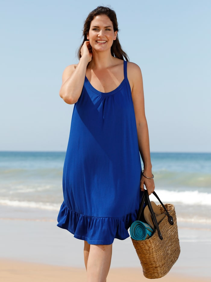 Maritim Strandkleid mit Volant, Royalblau
