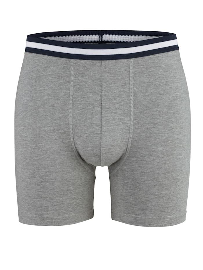 Long-Panty mit Kontrast-Webbund 2er Pack