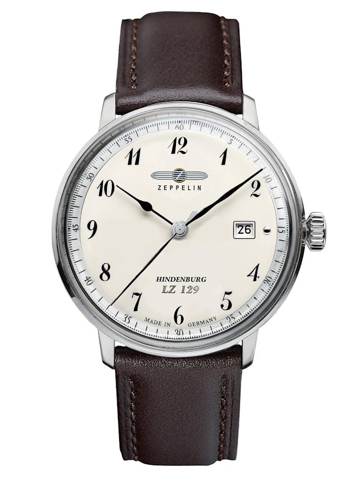 Zeppelin Hindenburg Herren-Armbanduhr, Creme-Weiß