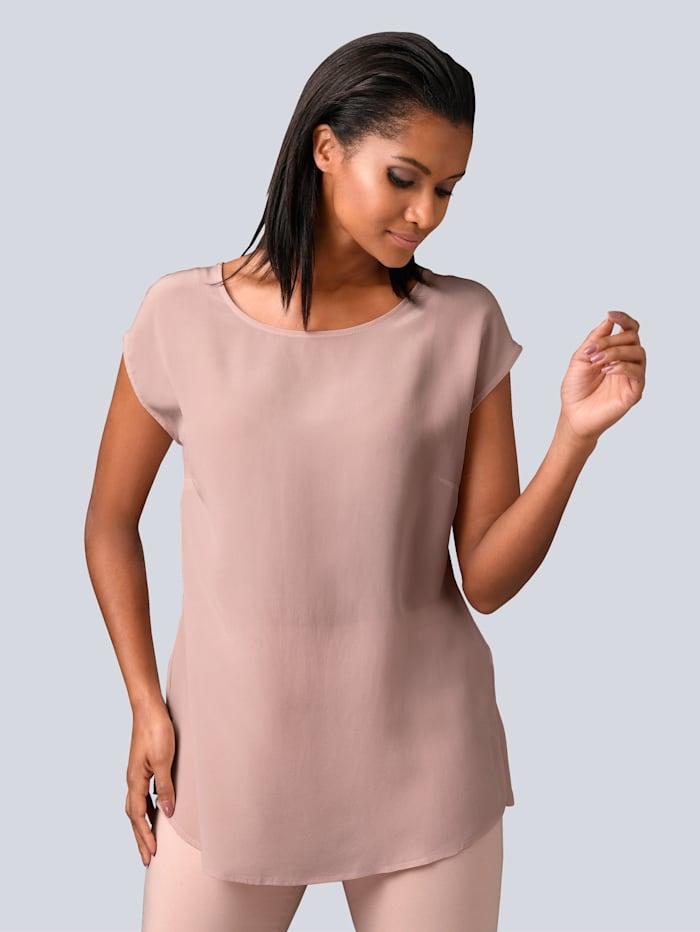 Alba Moda Blouse van zuivere zijde, Roze