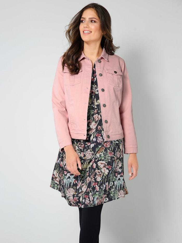 Janet & Joyce Veste en jean de couleur denim, Bois de rose