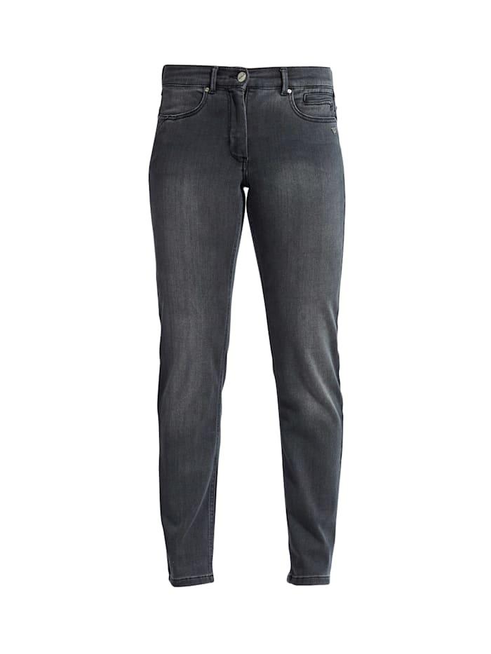 LauRie Jeans im modischen Design, Black denim washed