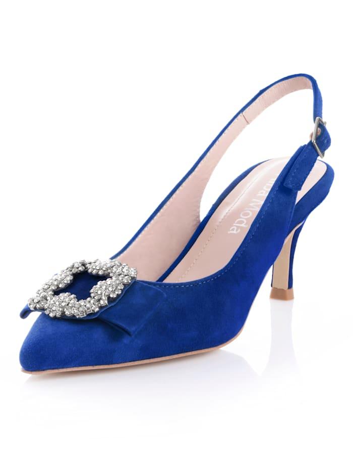 Alba Moda Sling met strassteentjes, Royal blue