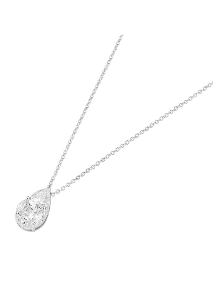 Smart Jewel Kette mit Zirkonia Steinen, Silber 925, Weiss