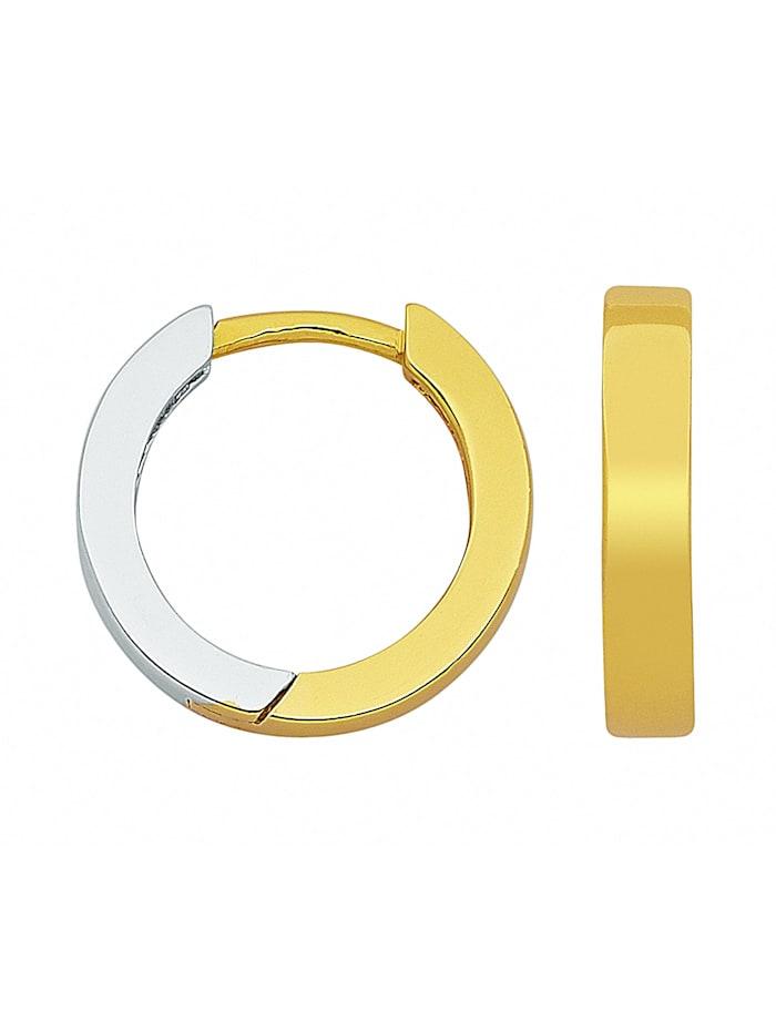 1001 Diamonds Damen Silberschmuck 925 Silber Ohrringe / Creolen Ø 11,6 mm, silber