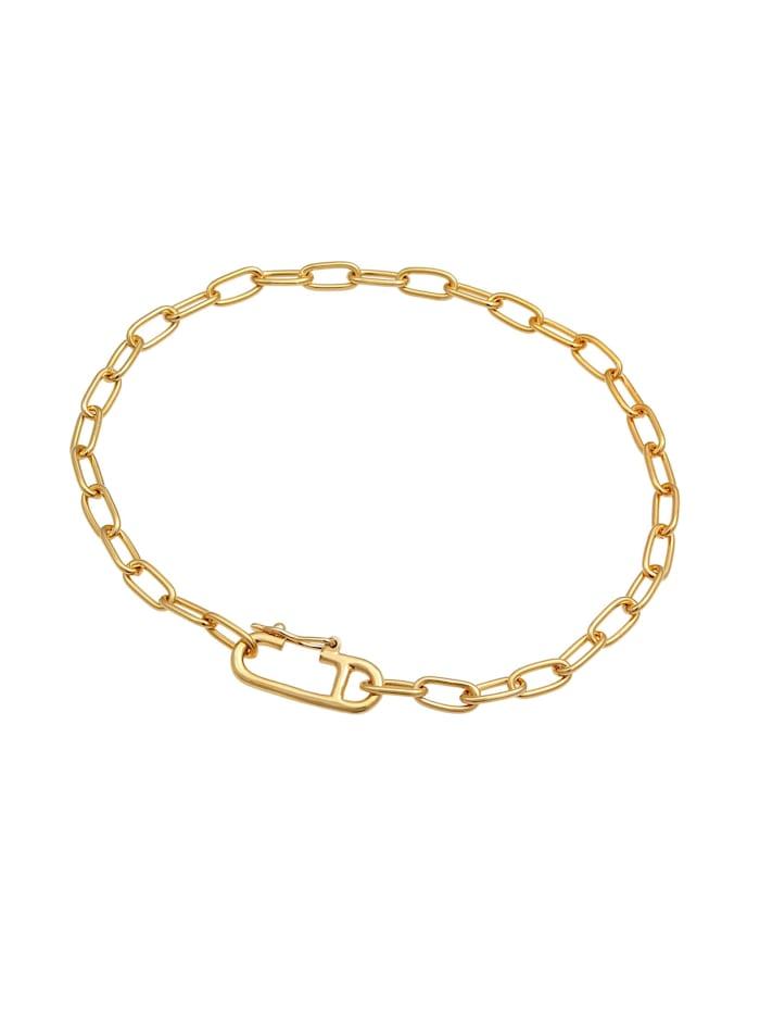Armband Gliederkette Oval Verstellbar Trend 925 Silber