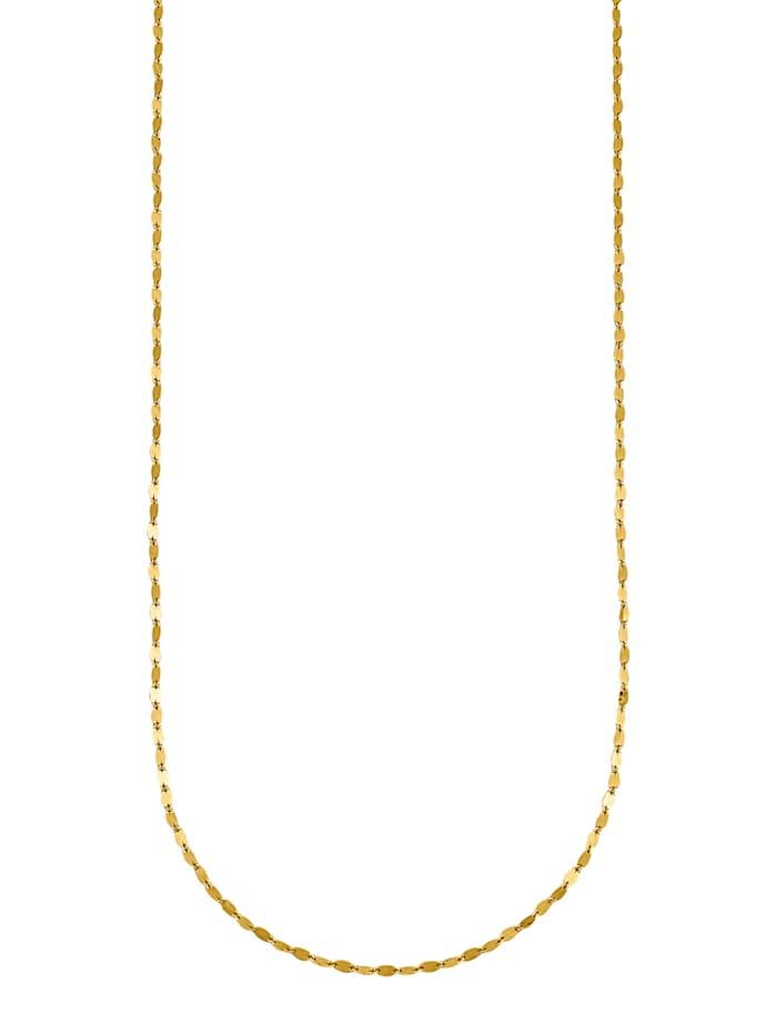 Halskette diamantiert, Gelbgoldfarben