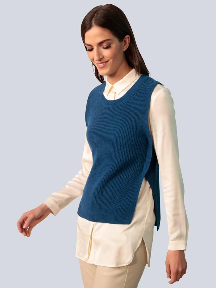 OUI Pullunder mit verlängertem Rückenteil, Royalblau