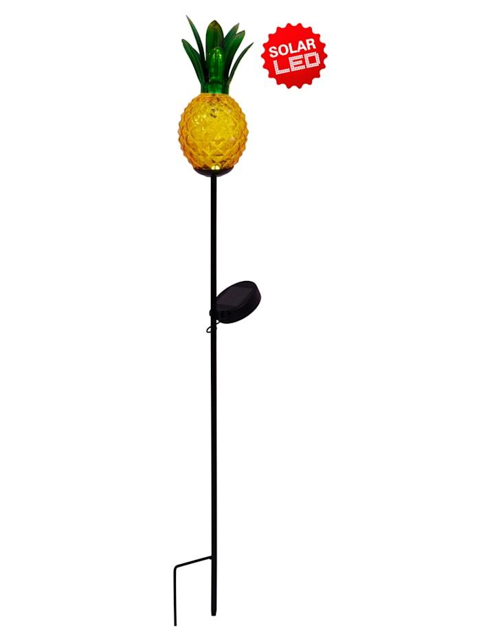 Näve LED-Solarerdspieß 'Ananas', Gelb