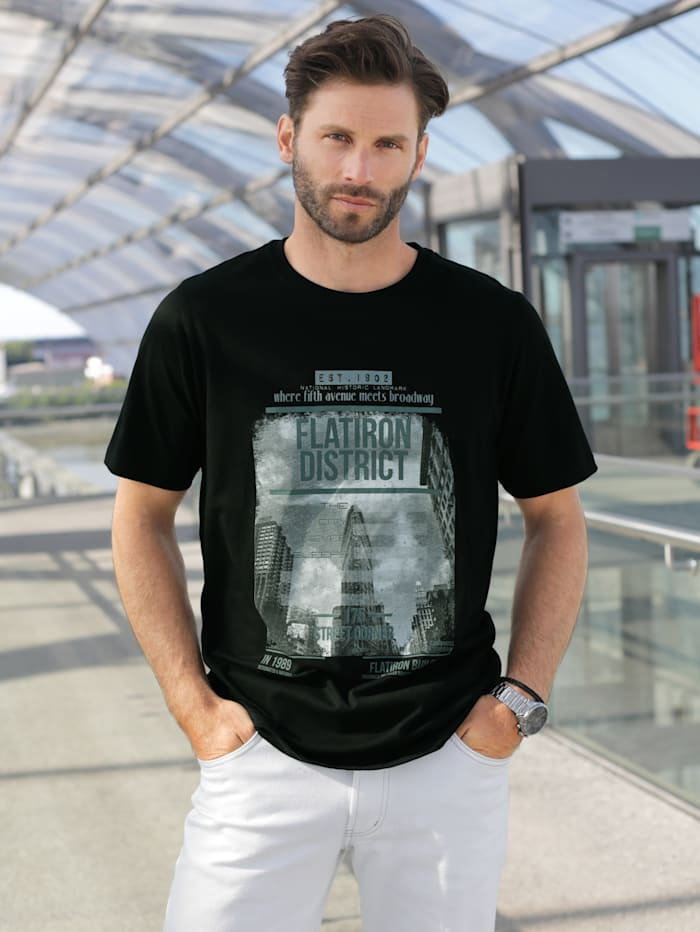 BABISTA T-Shirt mit modischem Print, Schwarz