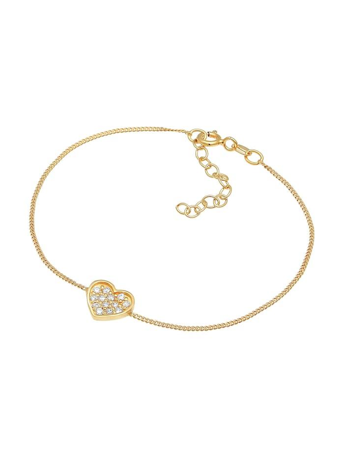 Armband Herz Zirkonia Valentin Romantik 925 Silber