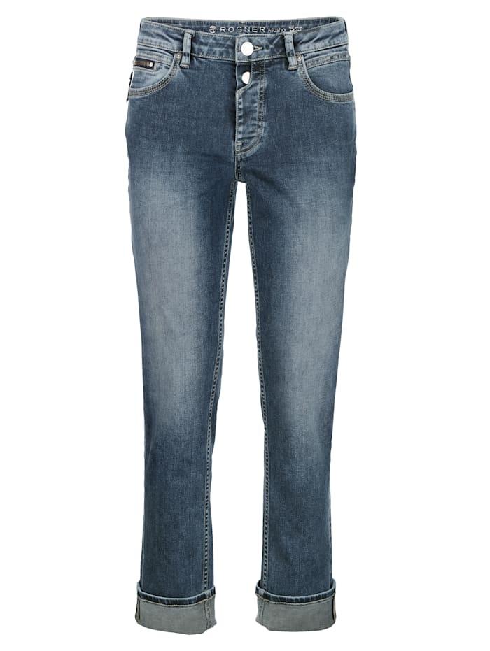 Jeans mit Saum zum Umschlagen