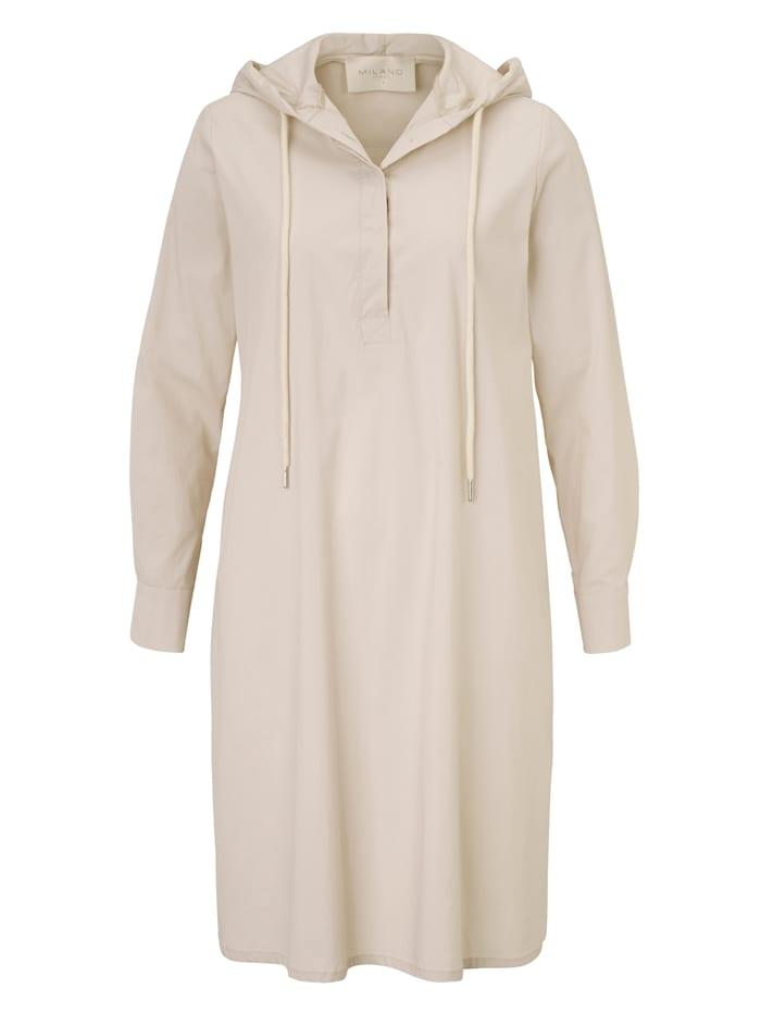 Milano Italy Kleid mit Kapuze, Nude