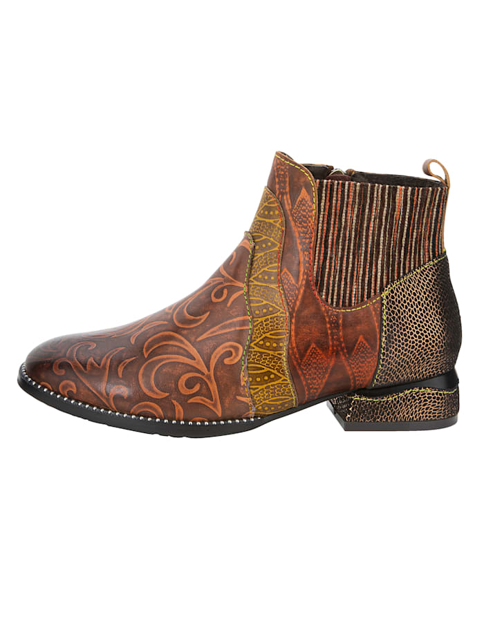 Chelsea Boot im Ornament-Look