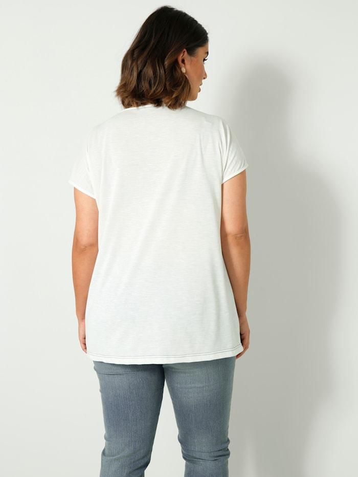 Shirt met aangeknipte mouwen