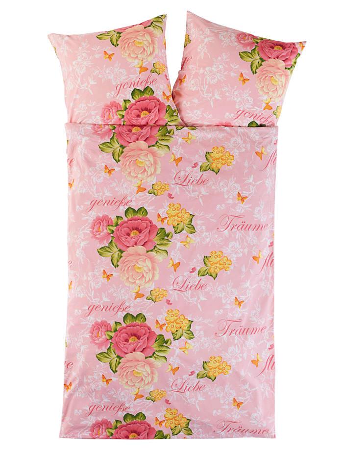 Kinzler 2-delige set bedlinnen Rosalie, roze