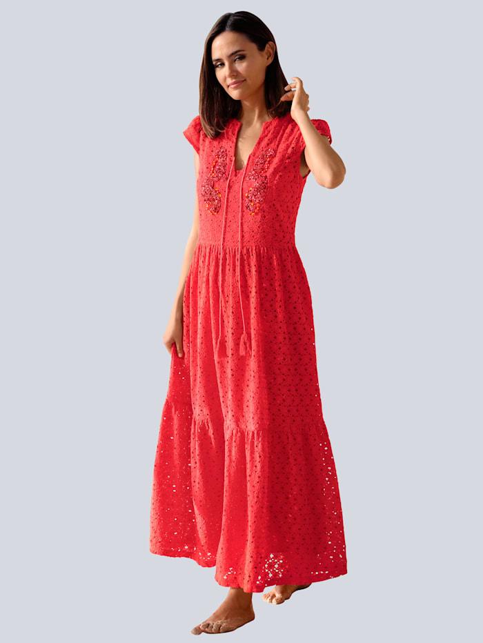Alba Moda Strandkleid aus Spitze, Orange