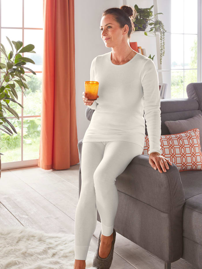 Peters angora Thermo-Damen Leggings, Weiß