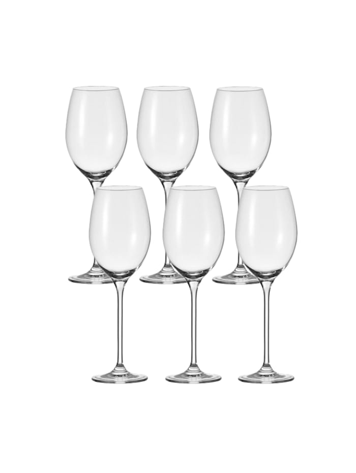 Leonardo Weißwein-Glas 6er-Set Cheers, Transparent