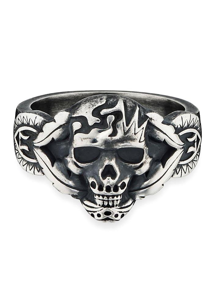 CAI Ring 925/- Sterling Silber ohne Stein Mattiert 925/- Sterling Silber, Silbergrau