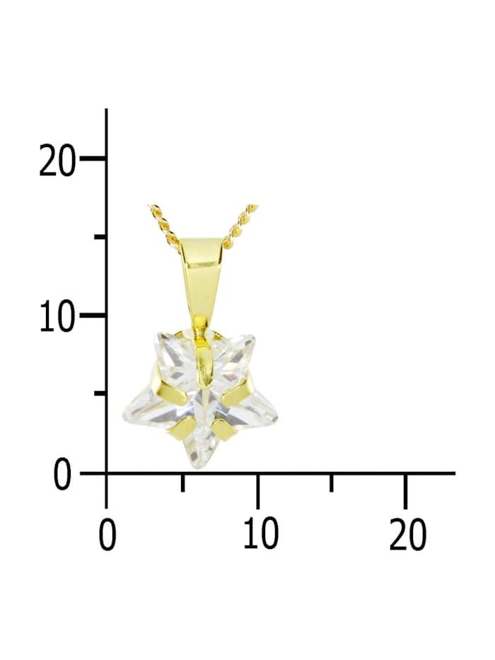 Kette mit Anhänger - Stern - Gold 333/000 - Zirkonia