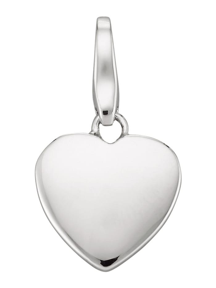Atelier Imperial Sisi Breloque coeur en argent 925, Coloris argent