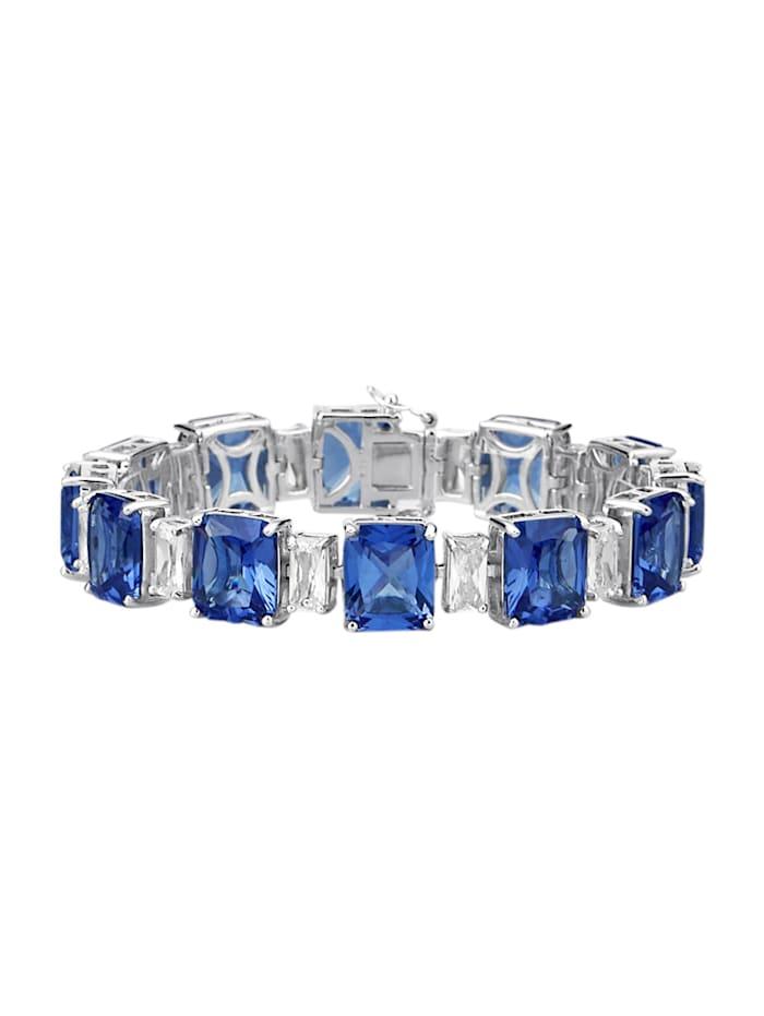 Diemer Trend Armband met zirkonia's, Blauw