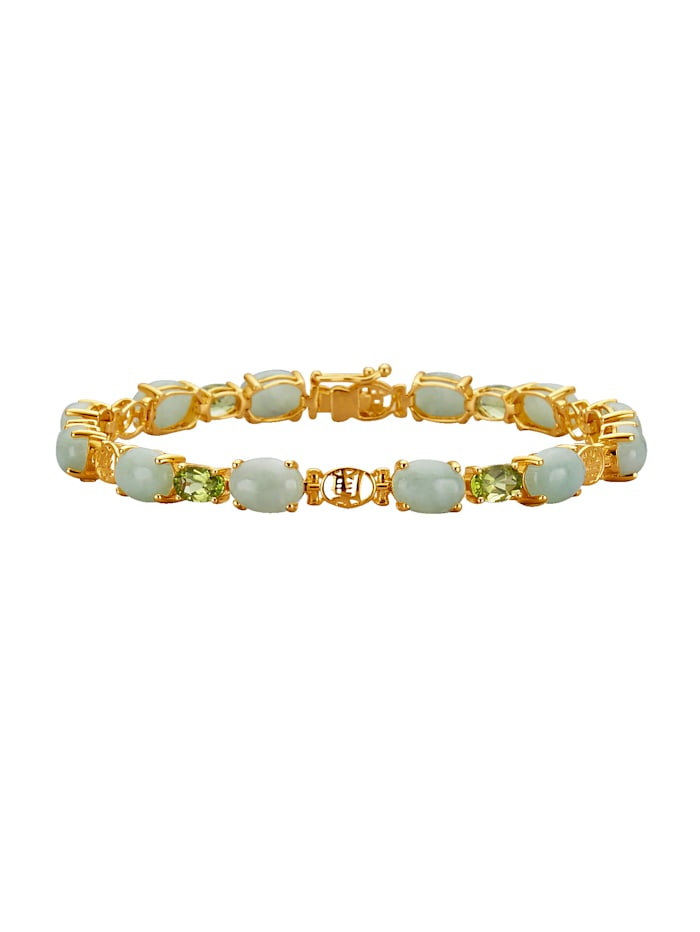 Armband mit Jade, Grün