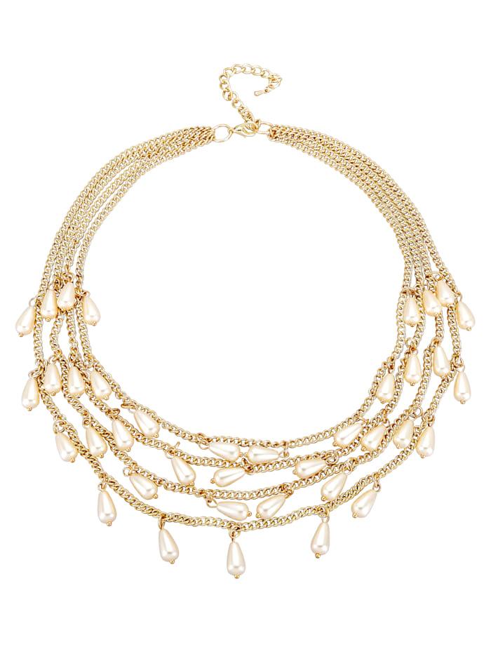 4rhg. Halskette mit imit. Perlen