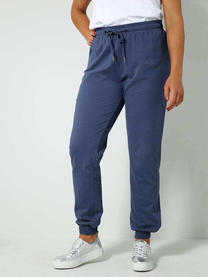 Angel of Style Jogpants aus reiner Baumwolle, Blau