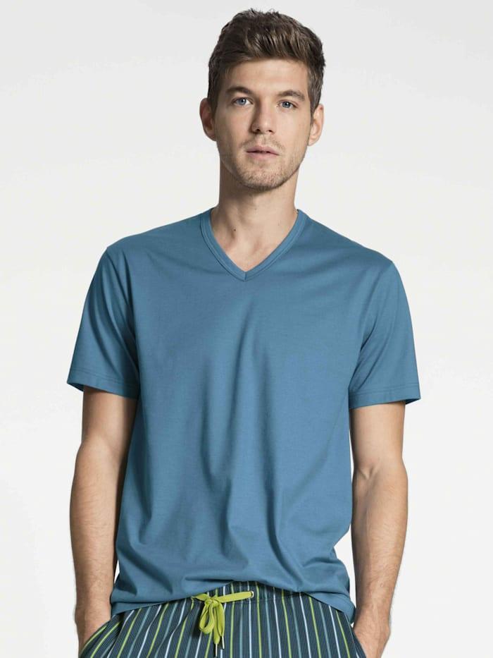 Calida Kurzarm-Shirt STANDARD 100 by OEKO-TEX zertifiziert, blue lake