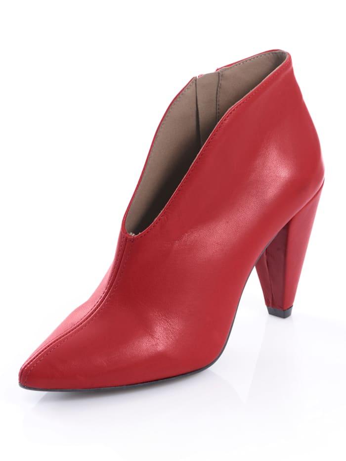 Alba Moda Stiefelette aus Kalbsrindsleder, Rot