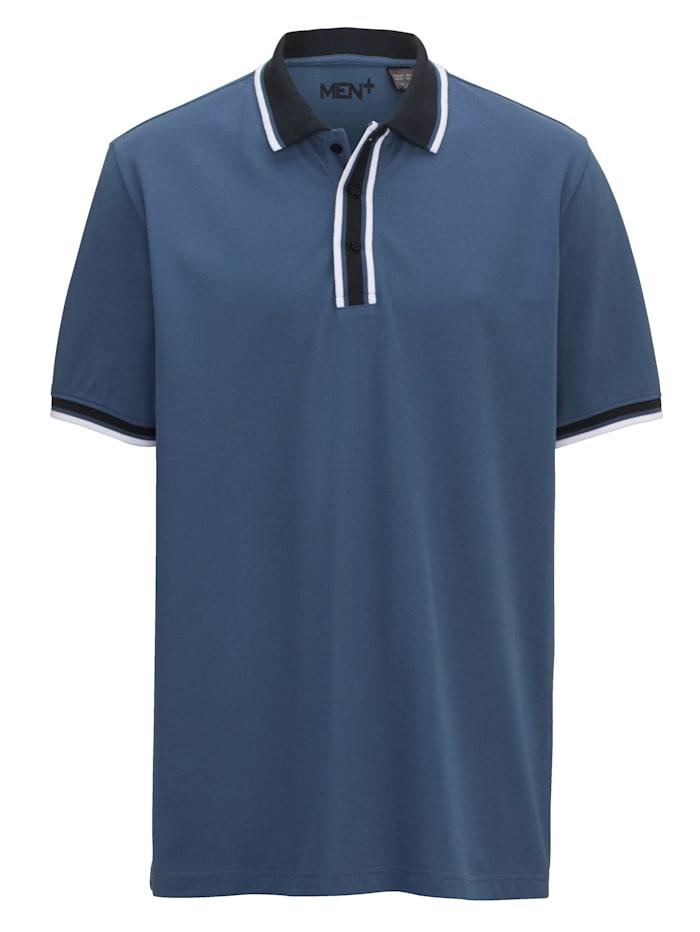 Men Plus Poloshirt, Blauw