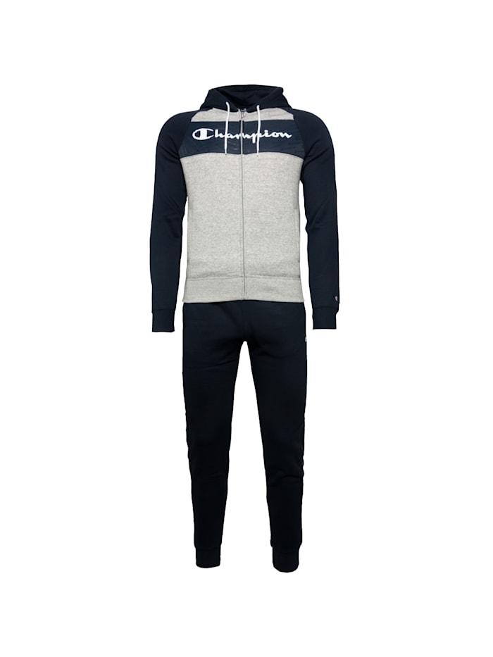 Champion Trainingsanzug Hooded Full Zip Suit, grau