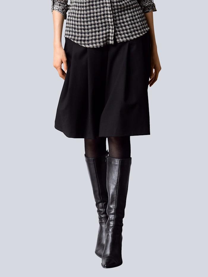Alba Moda Hosenrock mit weitem Bein, Schwarz