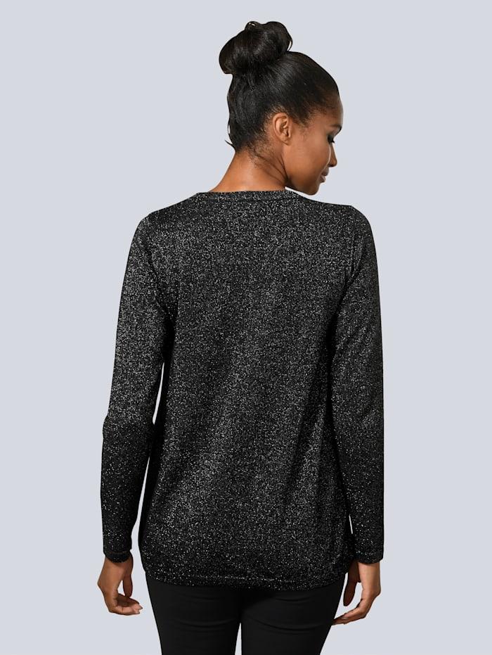 Pullover mit Seiden-Einsatz