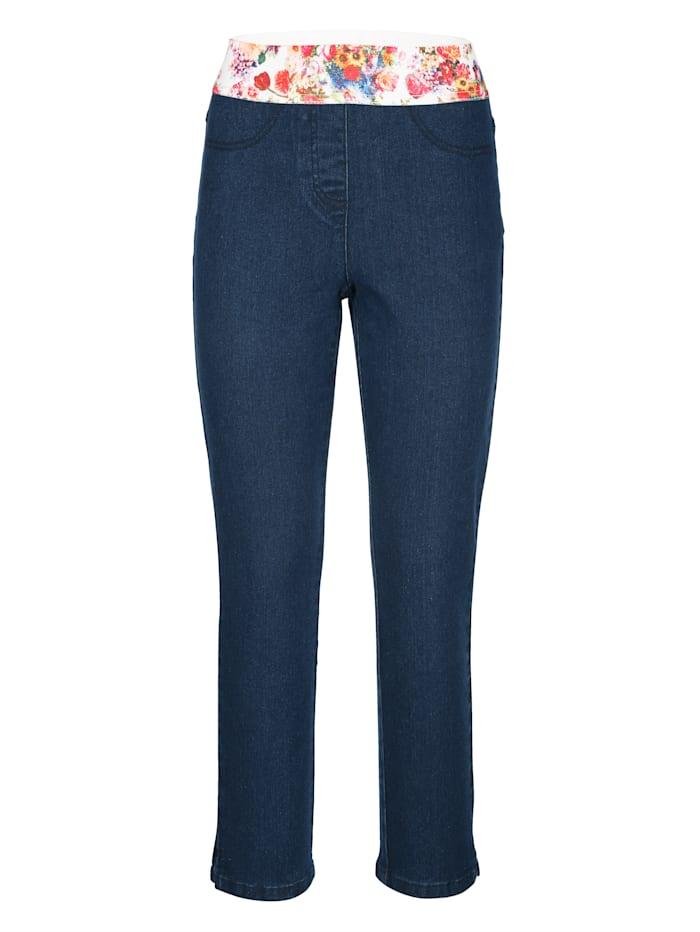 7/8-jeans in model Lotta met decoratieve elastische band